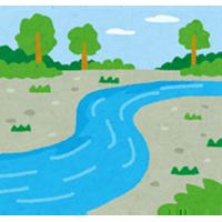 河原のイラスト