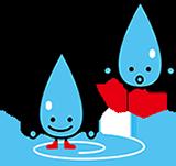 水のキャラクターイラスト
